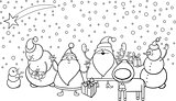 christmas characters coloring page