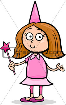 girl in fairy costume cartoon illustration