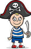 boy in pirate costume cartoon