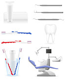 set dental icons vector illustration