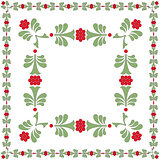 FLOWER FRAME GREEN RED
