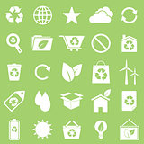 Ecology icons on green background