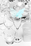 Wedding table decoration at reception