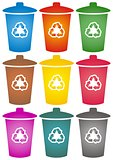 Recycle bins icons