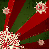 Christmas Snowflake on Retro Background