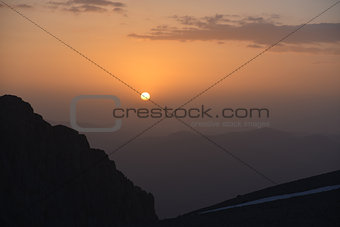Anti-Taurus Mountains (Aladağlar)  - sunset