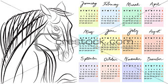 calendar 2014 year of the horse