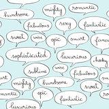 fancy speech bubbles pattern