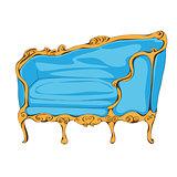 rococo sofa on white