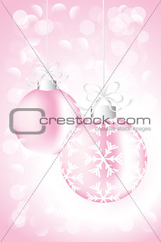 Christmas card with baubles