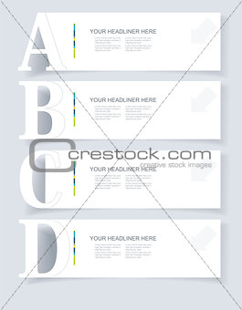 Abstract infographics  Option Banners Set