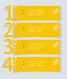 Abstract infographics  Option Banners Set.