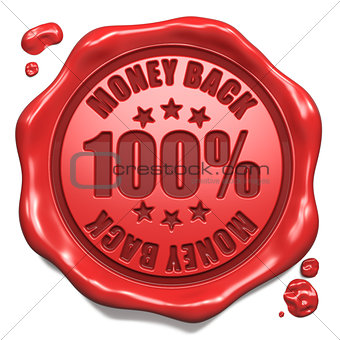Money Back - Stamp on Red Wax Seal.