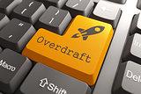 Keyboard with Overdraft Orange Button.