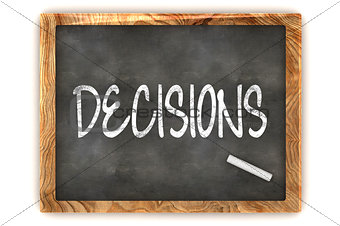 "Blackboard ""Decisions"""