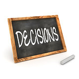 "Blackboard ""Decisions"""