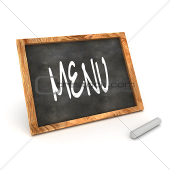 Blackboard Menu Illustration