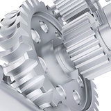 Metal shafts, gears and bearings