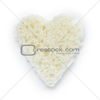 slice of white bread heart shape
