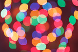 defocused christmas lights