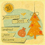 Retro New Years Card