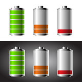 Battery set with color levels