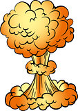 Cartoon nuclear explosion
