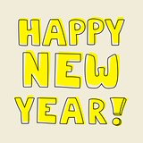 Happy New Year hand drawn vector wishes.