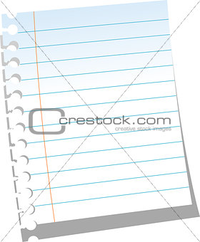 Page of notebook