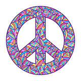 colorful peace symbol