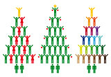 christmas tree with people icons, vector