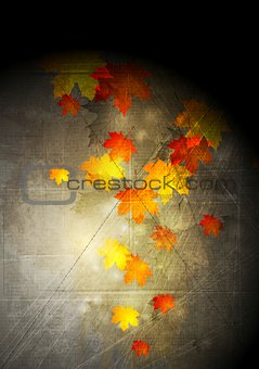 Grunge autumn vector background