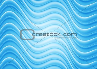 Bright blue wavy illustration template