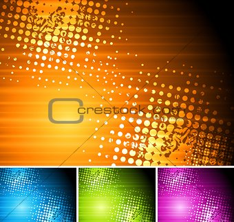 Bright grunge vector design