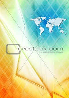 Abstract hi-tech world map design