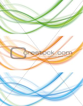 Colourful abstract modern banners