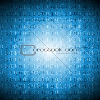 Bright blue hi-tech grunge background
