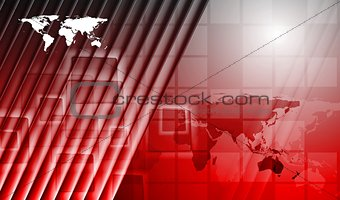 Bright red technology vector background
