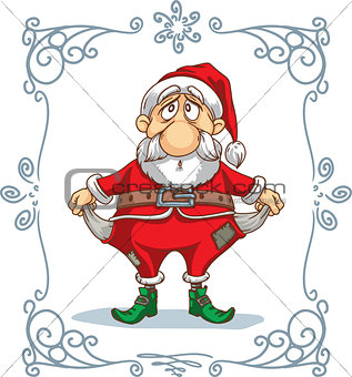 Broke Santa Cartoon
