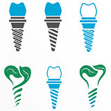 Dental implant symbols