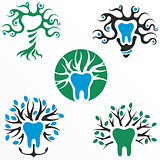 Symbols of healthy tooth