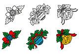 Christmas decorative corners set