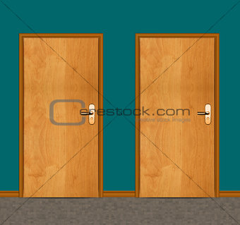 apartment wooden door