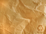 brown crumpled paper