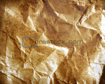 old grungy crumpled paper
