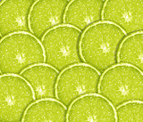 Slice of fresh lime