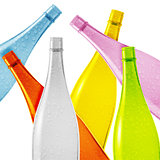Colored glass bottle
