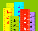Millimeter and inch rulers