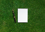 blank opened notebook