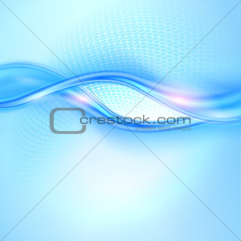 Abstract blue waving background
